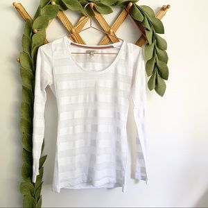 Burberry Striped Burnout Tee